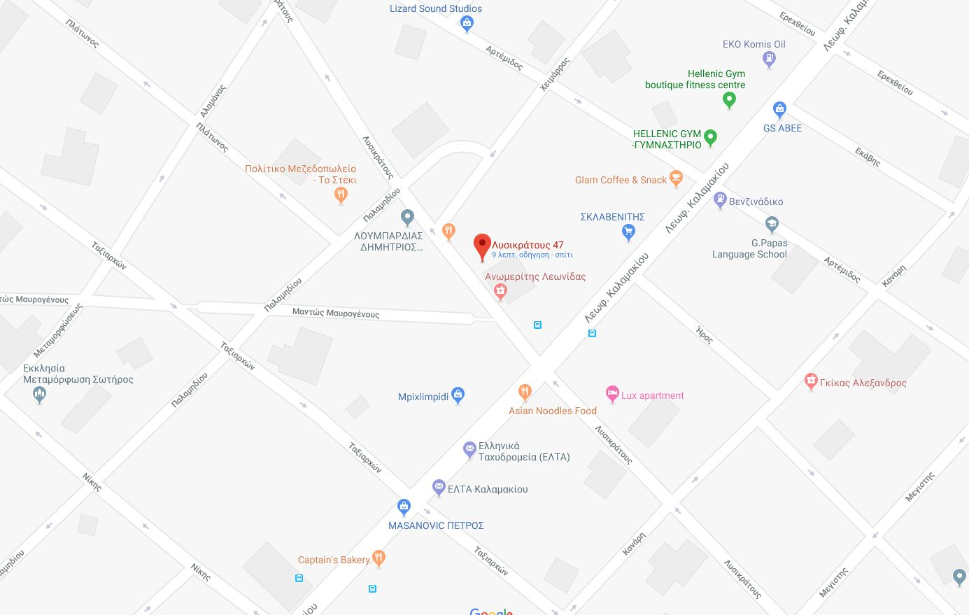 map - Επικοινωνία